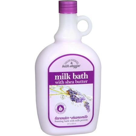 4 Pack - Village Naturals Spa Milk Bath Lavender and Chamomile 28 oz Jelly Spa Bath