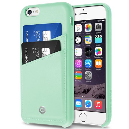 Cobble Pro For Iphone 6 6S 4 7  Pu Leather Designer Wallet Case With Id Credit Card Slot Holder Back Cover   Mint Green