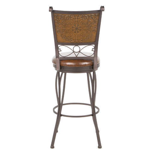 Powell Furniture 30'' Swivel Bar Stool with Cushion