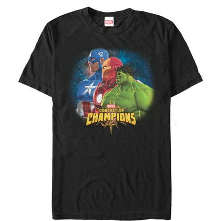 Marvel Men's Contest of Champions Heroes T-Shirt (Marvel Contest Of Champions Best Heroes)