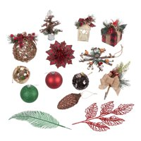 Holiday Time Rustic Lodge Variety Christmas Tree Ornaments, 28 Count, Limited Edition
