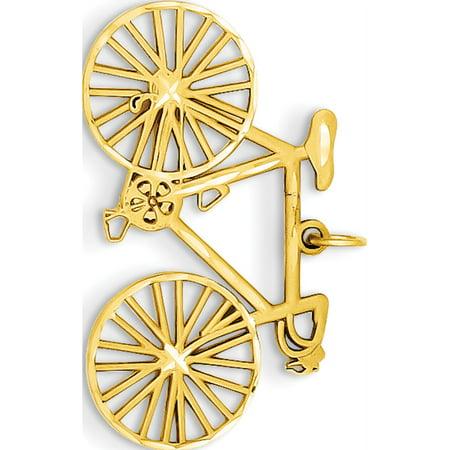 14k Yellow Gold Polished Bicycle (26x18.5mm) Pendant / Charm - image 1 of 2