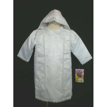 Baby Boy Toddler Christening Baptism Gown White size New Born to 24 - Baptism Or Christening