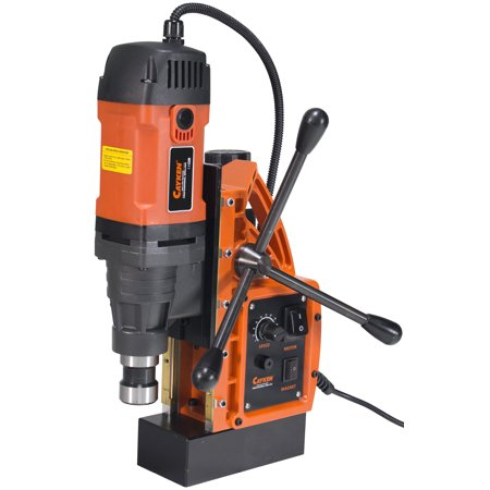 Cayken SCY-42HD 1.65in. Magnetic Drill Press with 1700W 450 RPM Variable Speed Motor Weldon Shank 3500 LBS Magnetic