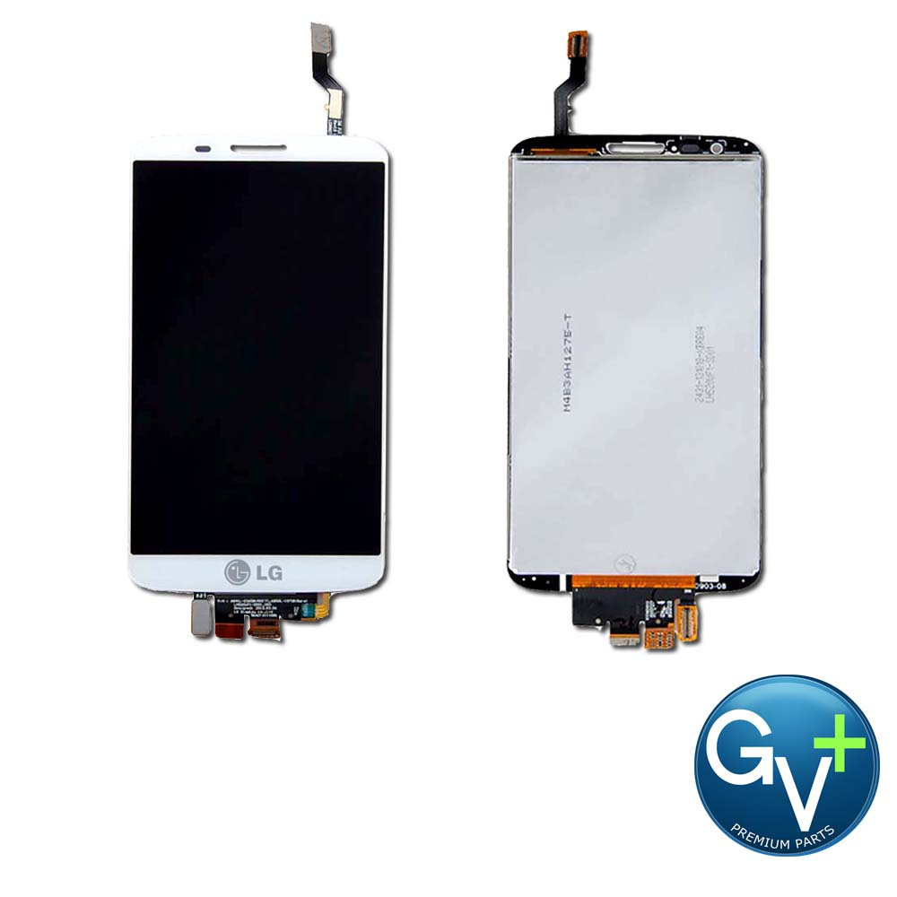 OEM Touch Screen Digitizer and LCD for LG G2 - White