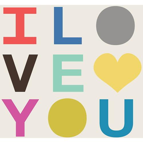 """9 by Novogratz """"I Love You"""" Wall Art, 16"""" x 16"""""""