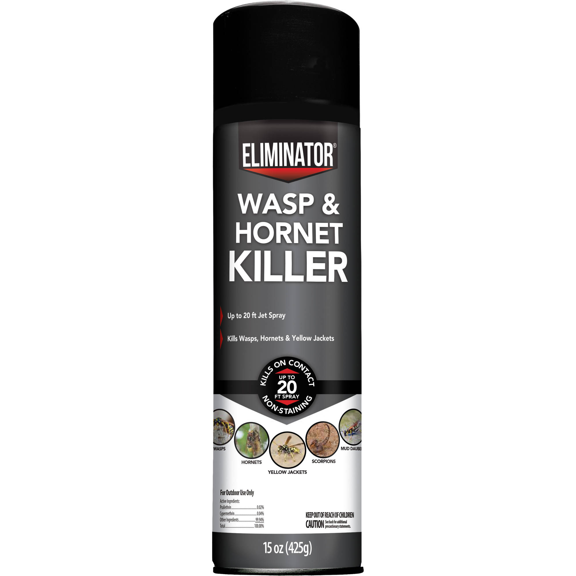 Eliminator Wasp & Hornet Killer, Aerosol Spray, 15-Ounces