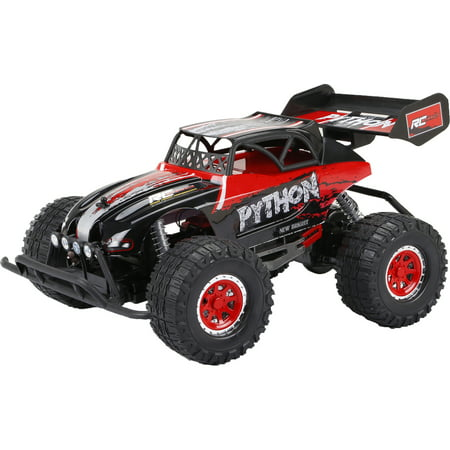 New Bright Radio Control RC PRO Plus Python 9.6v 1:10 Scale - Red/Black