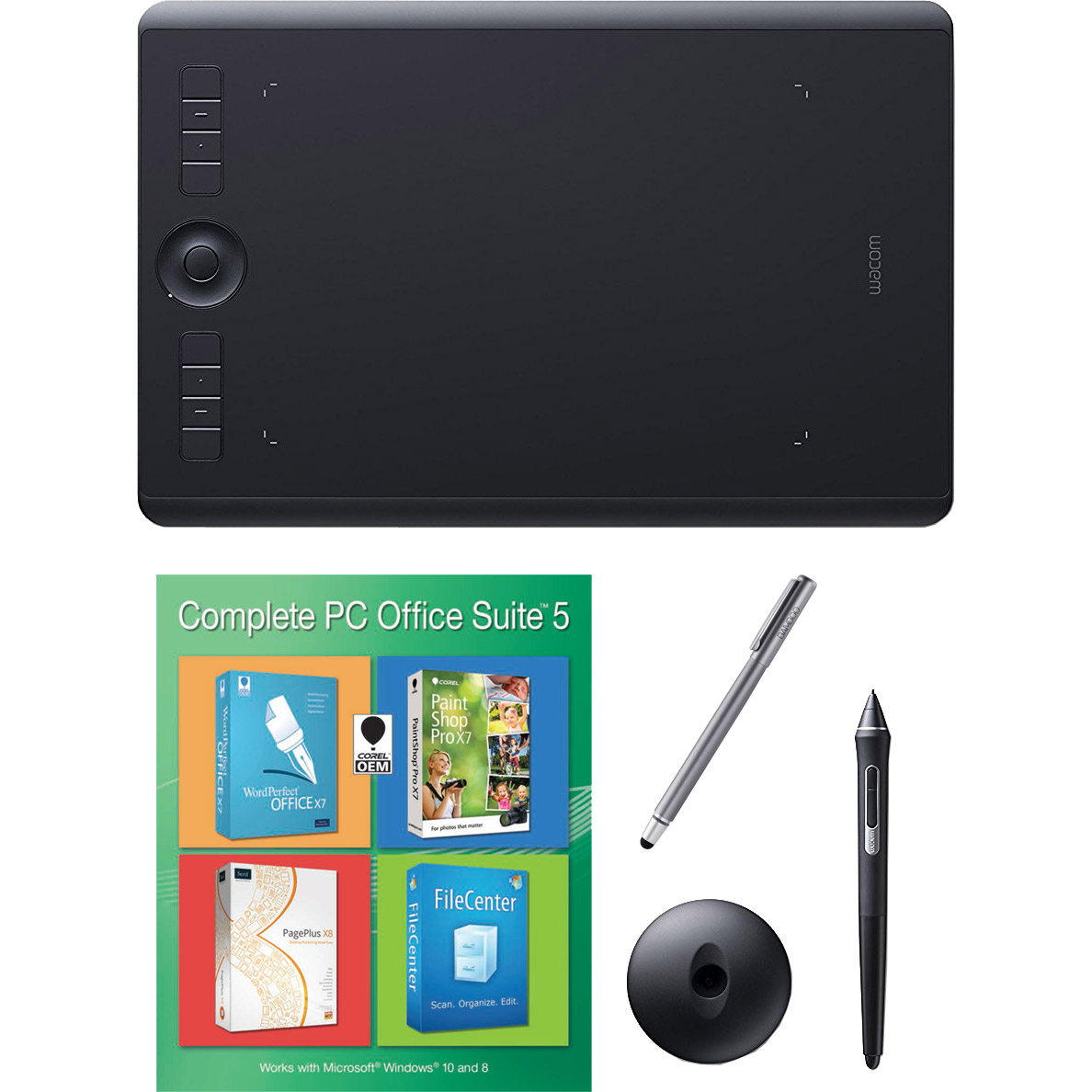 Wacom Intuos Pro Medium Bundle w/ Extra Stylus and Corel Office 5