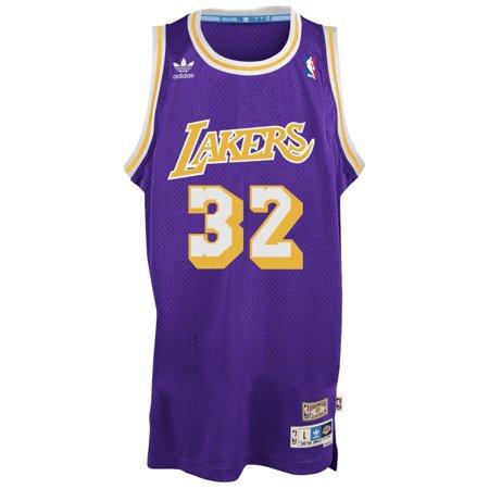 Magic Johnson Los Angeles Lakers Adidas Nba Throwback Swingman Jersey   Purple