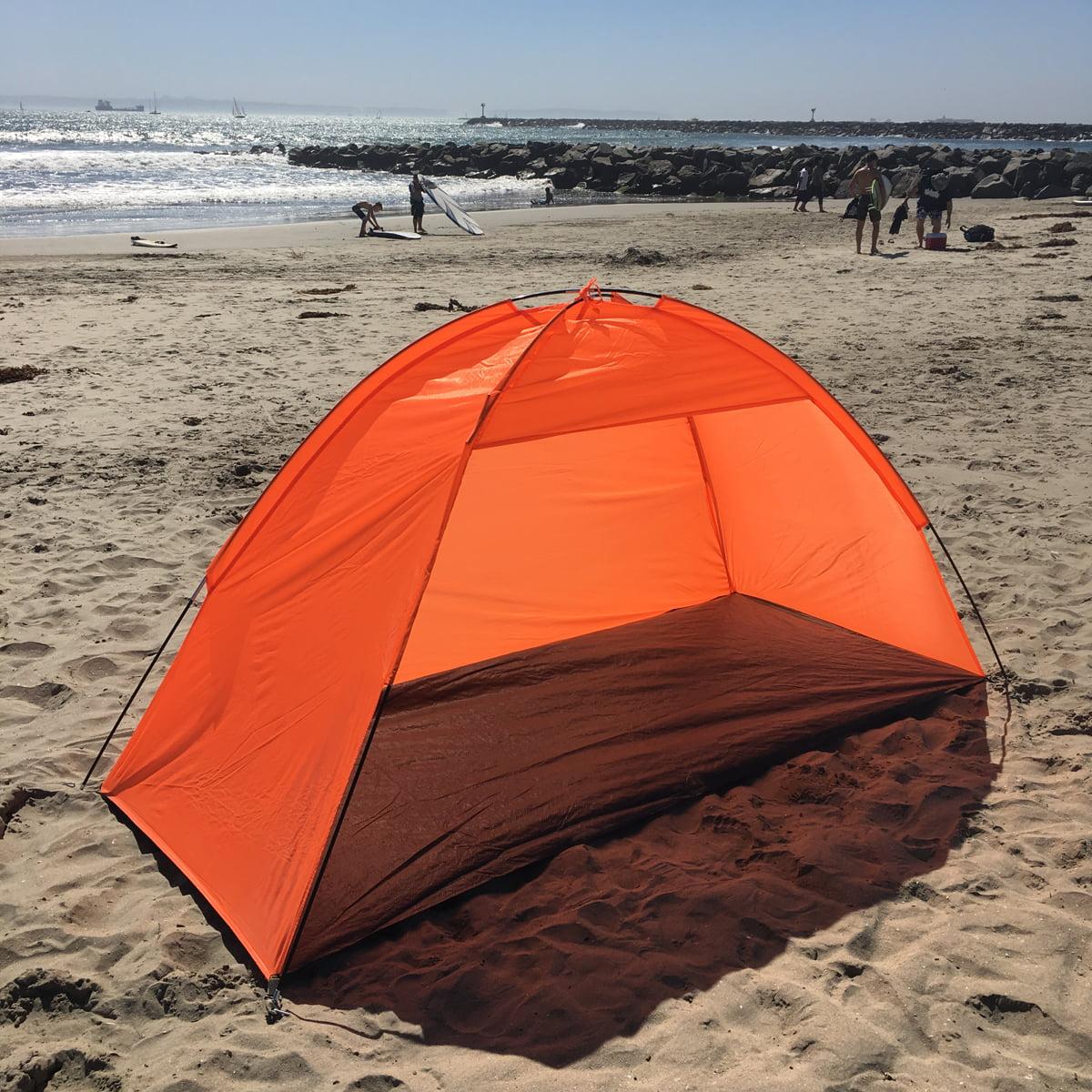 Apontus Portable Beach Sun Shelter Cabana Orange