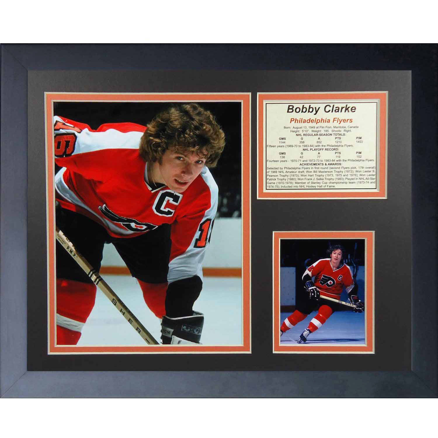 "Legends Never Die Bobby Clarke Philadelphia Flyers Collage Photo Frame, 11"" x 14"""