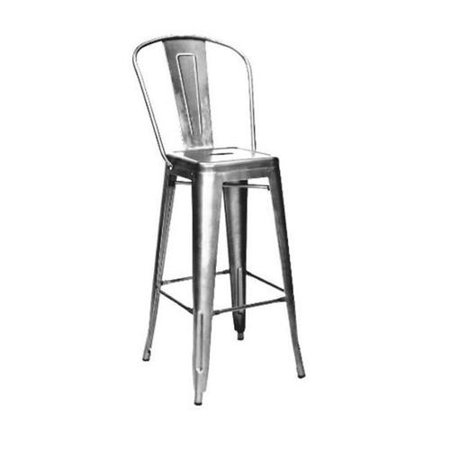 Remarkable Design Lab Mn Ls 9100 Gunhb Amalfi Steel High Back Barstool Clear Gunmetal Set Of 4 Andrewgaddart Wooden Chair Designs For Living Room Andrewgaddartcom
