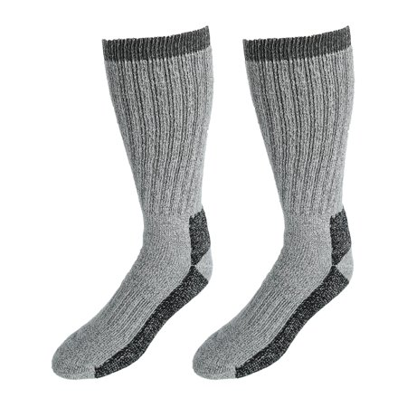 Gray Mens Socks (Size one size Men's Thermal Boot Socks (2 Pair Pack), Grey)