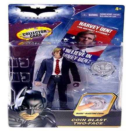Batman Dark Knight Movie Action Figure Coin Blast Two-Face (With Collector