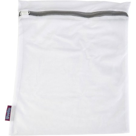 Woolite Sanitized Large Mesh Wash Bag, White 15 x 18 inch - Large Mesh Bags