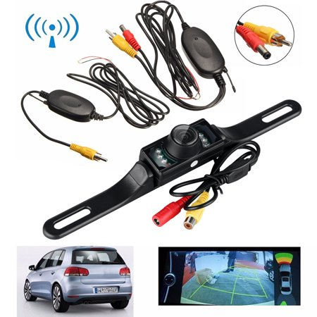 iMeshbean 2.4G Wireless Car Reverse Rear View Backup Camera Kit Parking 7 IR Night Vision ()