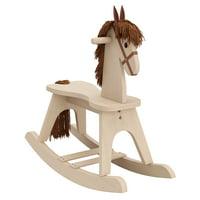 Storkcraft Wooden Rocking Horse Driftwood