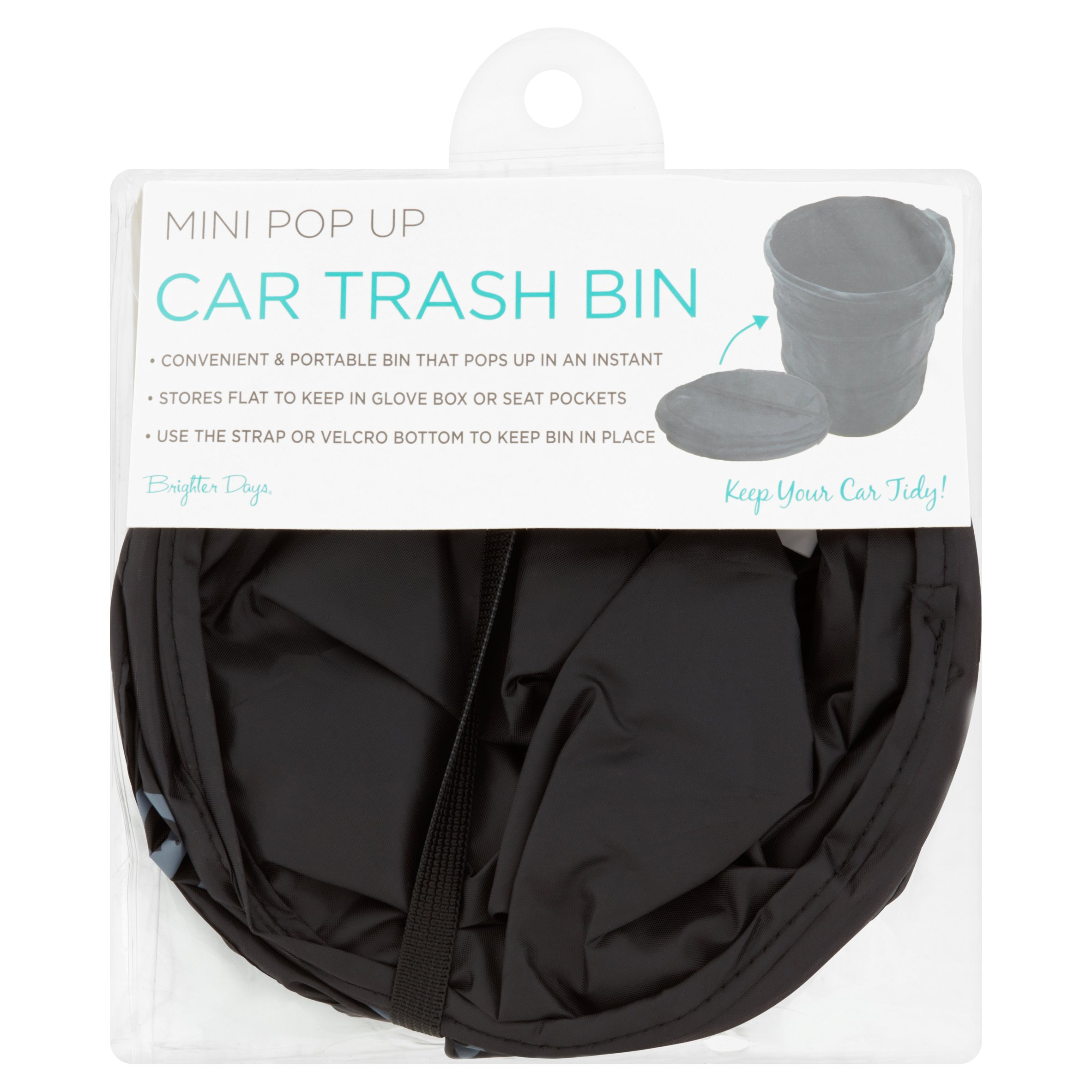 Brighter Days Mini Pop Up Car Trash Bin by
