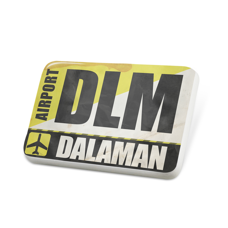 Porcelein Pin Airportcode DLM Dalaman Lapel Badge – NEONBLOND