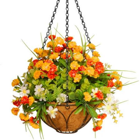 13 spring flowers hanging basket. Black Bedroom Furniture Sets. Home Design Ideas