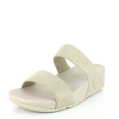 aab1e1a5d63dc Fitflop - FitFlop Women s Shimmy Suede Slide Sandals H68-308 Pale Gold -  Walmart.com