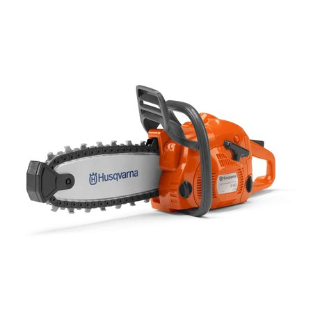 Husqvarna 440 Toy Kids Battery Operated Chainsaw with Rotating Chain, Orange