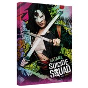 Suicide Squad Katana Psychedelic Cartoon Canvas Wall Art With Back Board