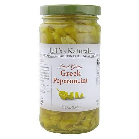 (6 Pack) Jeff's Naturals Sliced Golden Greek Peperoncini, 12 Fl Oz