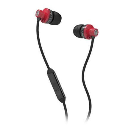Skullcandy Supreme Sound Titan In Ear Headphones With Mic1  Remote And Travel Bag   Red Black