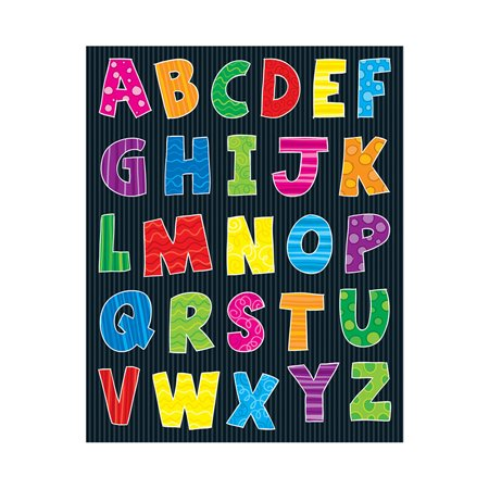 ALPHABET SHAPE STICKERS 156PK - Alphabet Number Sticker