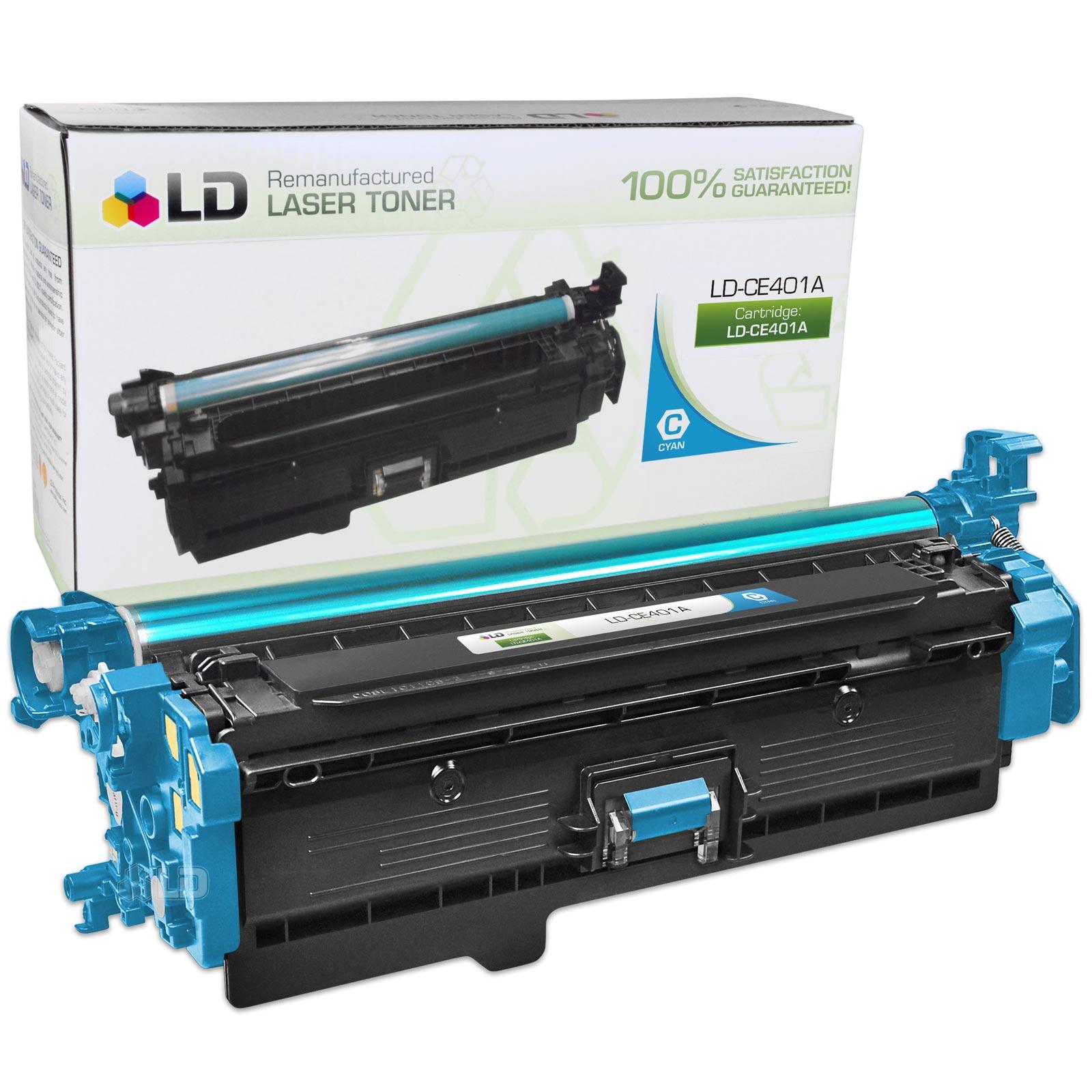 Remanufactured Hewlett Packard CE401A (HP 507A) Cyan Laser Toner Cartridge