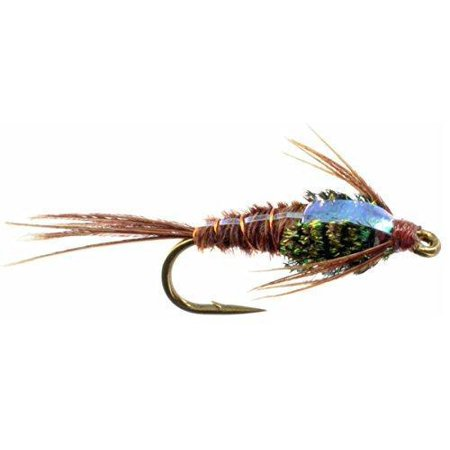 Flashback Pheasant Tail Nymph - Hand Tied Sizes 12,14,16,18 (3 of Each Size) Bead Head Pheasant Tail