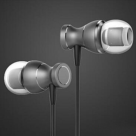 Hilitand Metal Magnetic Earphone Headset Stereo Earbuds 3.5mm Bass Headphone with Mic(Rose Gold, Silver, Gold, Gray)