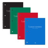 "POLY COVER WB NOTEBOOK 1SUB 10.5""x8"" COLLEGE RULED W/MARGIN ASST"