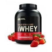 Optimum Nutrition Gold Standard 100% Whey Protein Powder, Strawberry, 24g Protein, 5 Lb