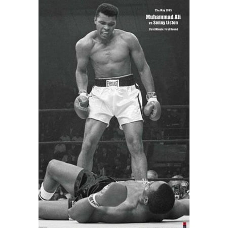 Muhammad Ali vs. Sonny Liston Boxing Sports Poster 24x36 (Muhammad Ali Boxing Pictures)