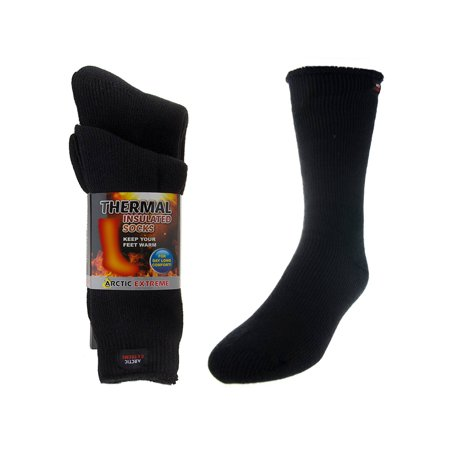 ac3f0be8a DG Hill - 2 Pairs Arctic Extreme Thermal Brushed Boot Socks Warm Insulated  Winter Heat Trapping - Walmart.com