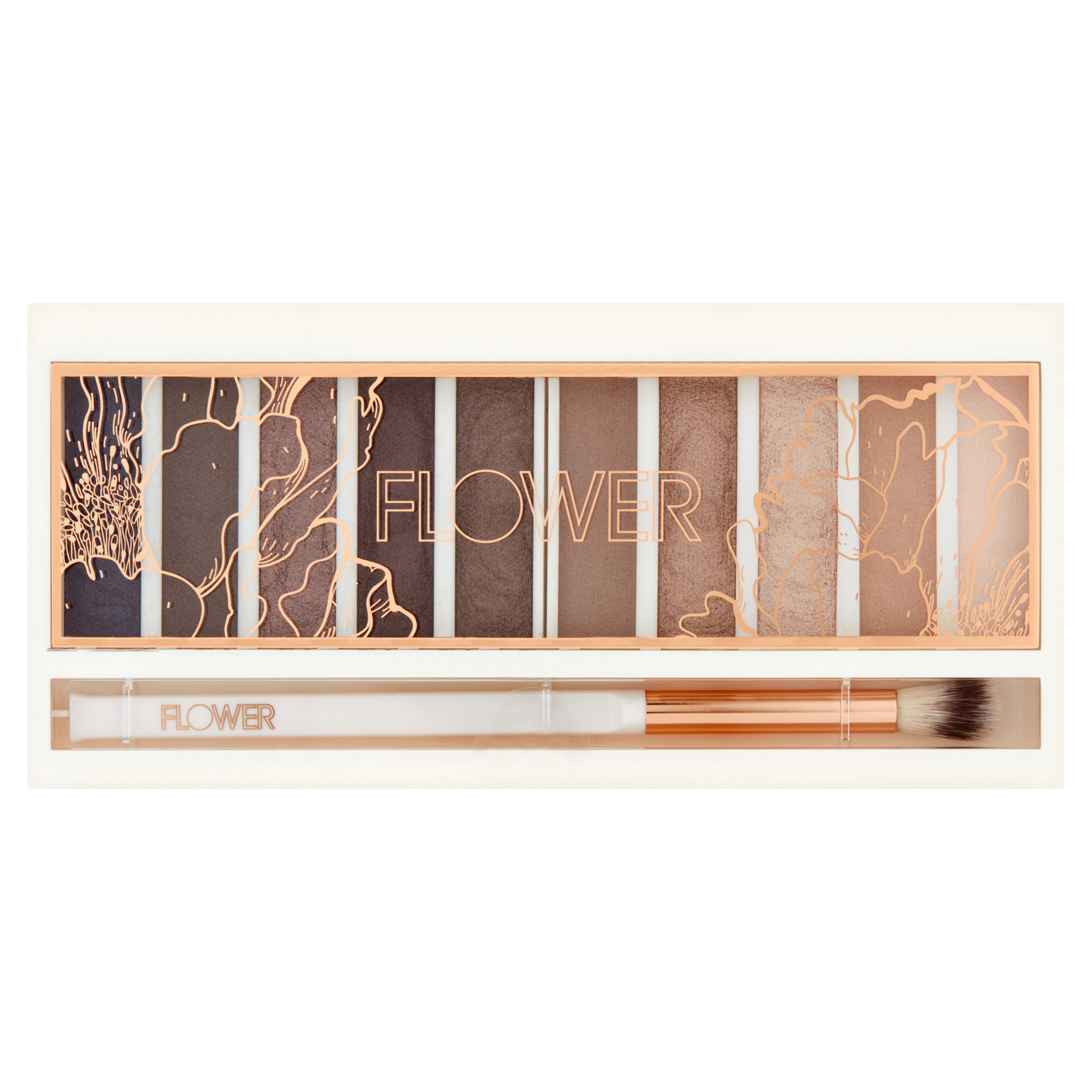 Flower Shimmer & Shade Eyeshadow Palette, ES2 Cool Natural