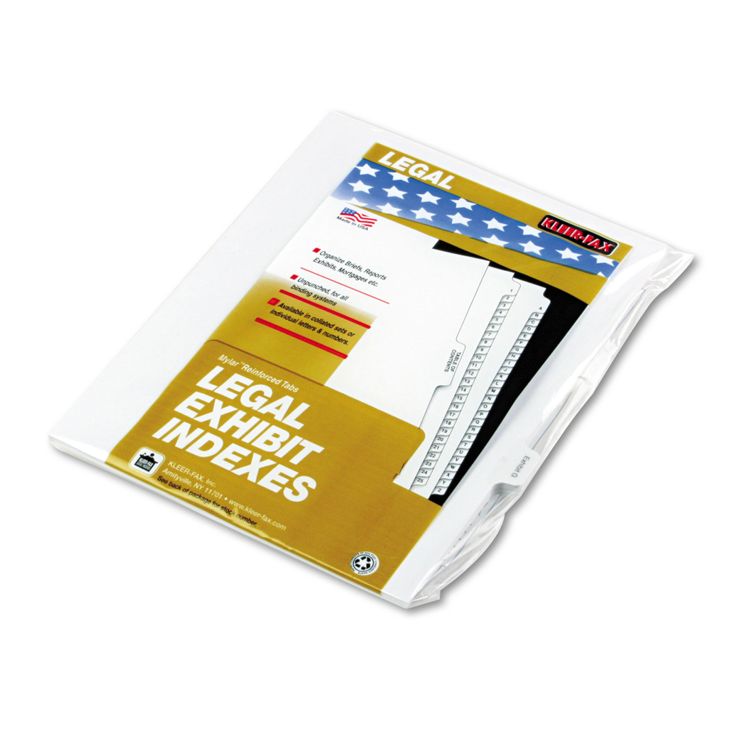 "90000 Series Legal Exhibit Index Dividers, 1 10 Cut Tab, ""Exhibit G\ by Kleer-Fax"