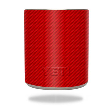 Skin Decal Wrap For YETI 10 Oz Rambler Lowball Red Carbon
