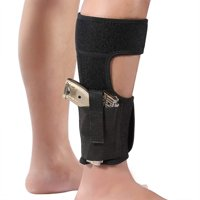 Adjustable Neoprene Elastic Wrap Concealed Ankle Carry Gun Holster with Magazine Pocket