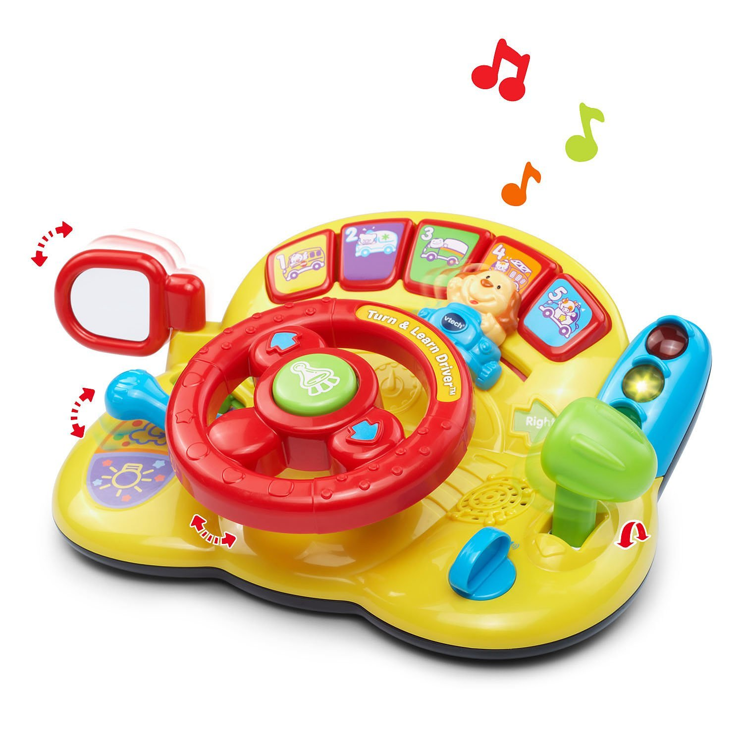 VTech Turn and Learn Driver, Includes 3 play modes, 60+ Songs, melodies & phrases New! by