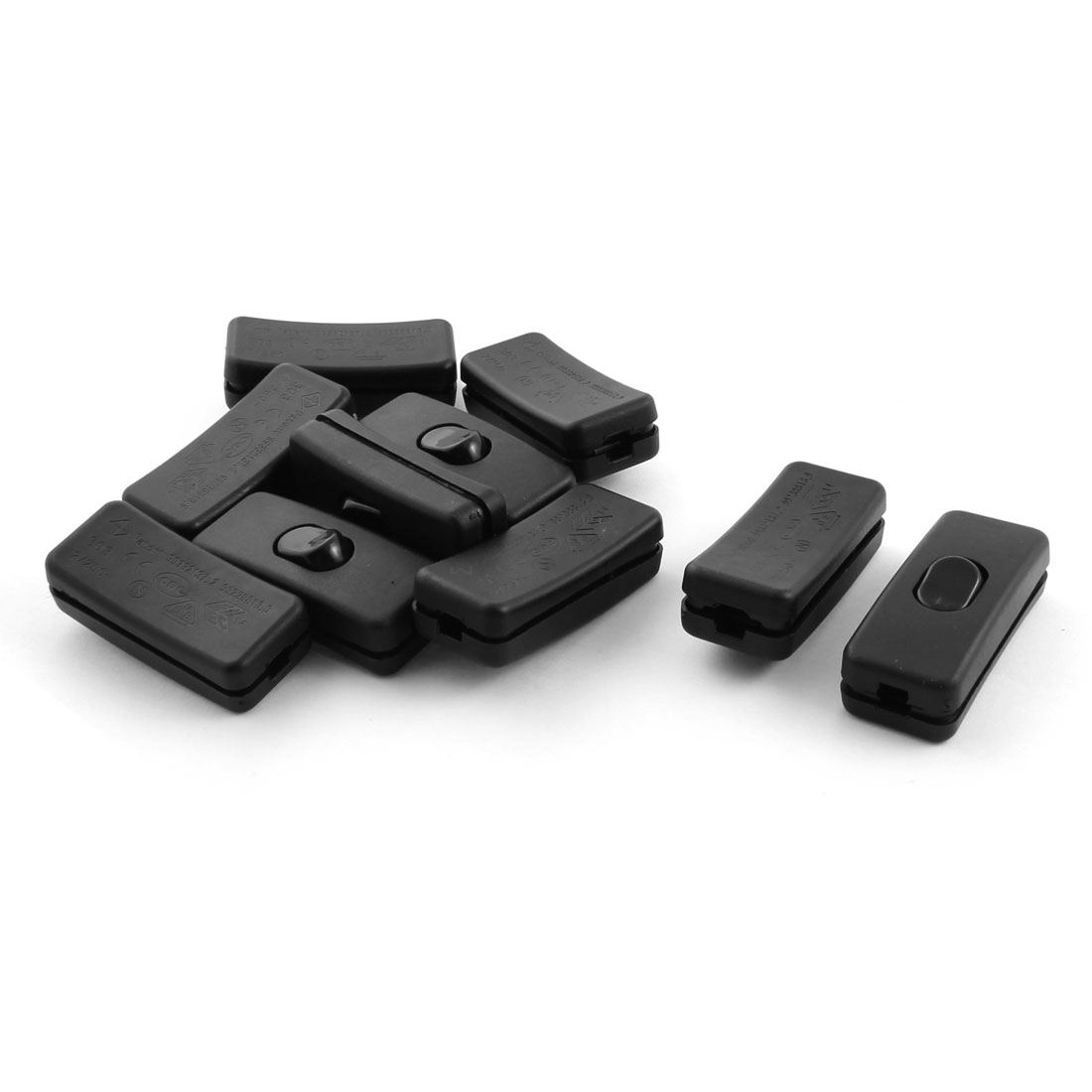 Household Black Plastic ON/OFF In Line Cord Switches AC 125V 3A 250V ...
