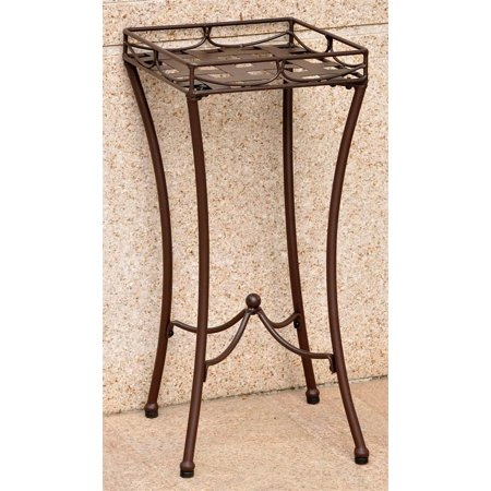 Iron Patio Plant Stand in Matte Brown (Matte Brown)