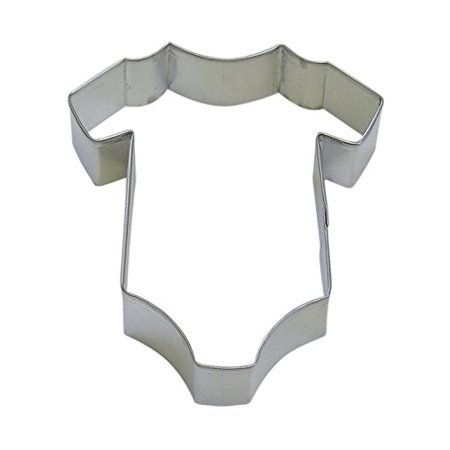 CybrTrayd R&M Onesie Tinplated Steel Cookie Cutter and Cookie Recipe, 4-Inch, Silver, Bulk Lot of 12