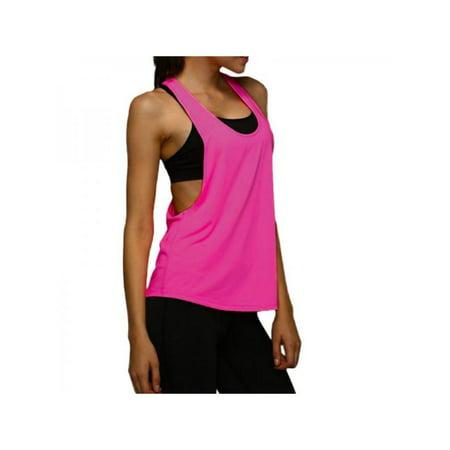 d30adb2d1148 JLONG Women Yoga Gym Sports Vest Training Running Tank Tops Blouse -  Walmart.com