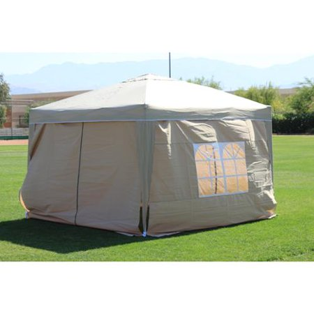 10 x 10 PALM SPRINGS EZ POP UP SAND CANOPY GAZEBO TENT WITH 4 SIDE WALLS NEW - Party Store Palm Springs