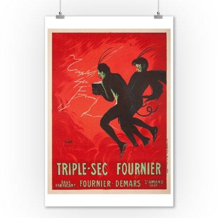 - Triple - Sec Fournier Vintage Poster (artist: Cappiello, Leonetto) France c. 1907 (9x12 Art Print, Wall Decor Travel Poster)
