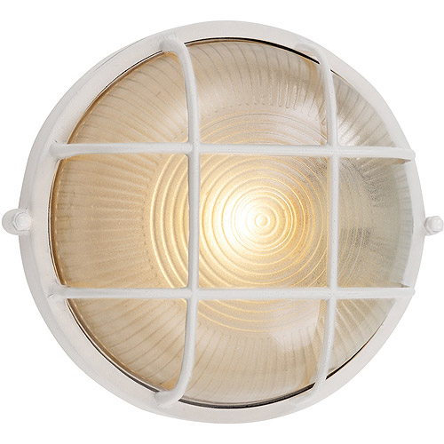 "BelAire Port Hole Bulkhead 8"" Outdoor Light, White"